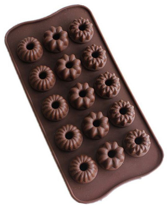 100pcs/lot  15 even 3 flower-shaped silicone chocolate molds DIY handmade baking molds Silicone ice molds Soap molds L048