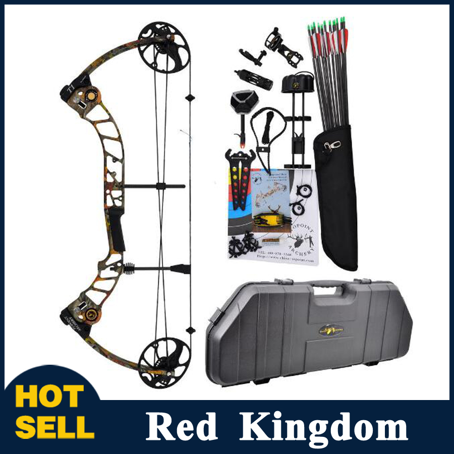 11 Color T1 Compound Bow 17-70 Lbs Draw Weight 19-30 Inches Draw Length 320fps IBO Archery Equipment for Shooting flight fps 17
