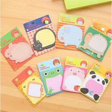Creative cartoon cute animal times post message stickers student stationery notes school supplies(China)