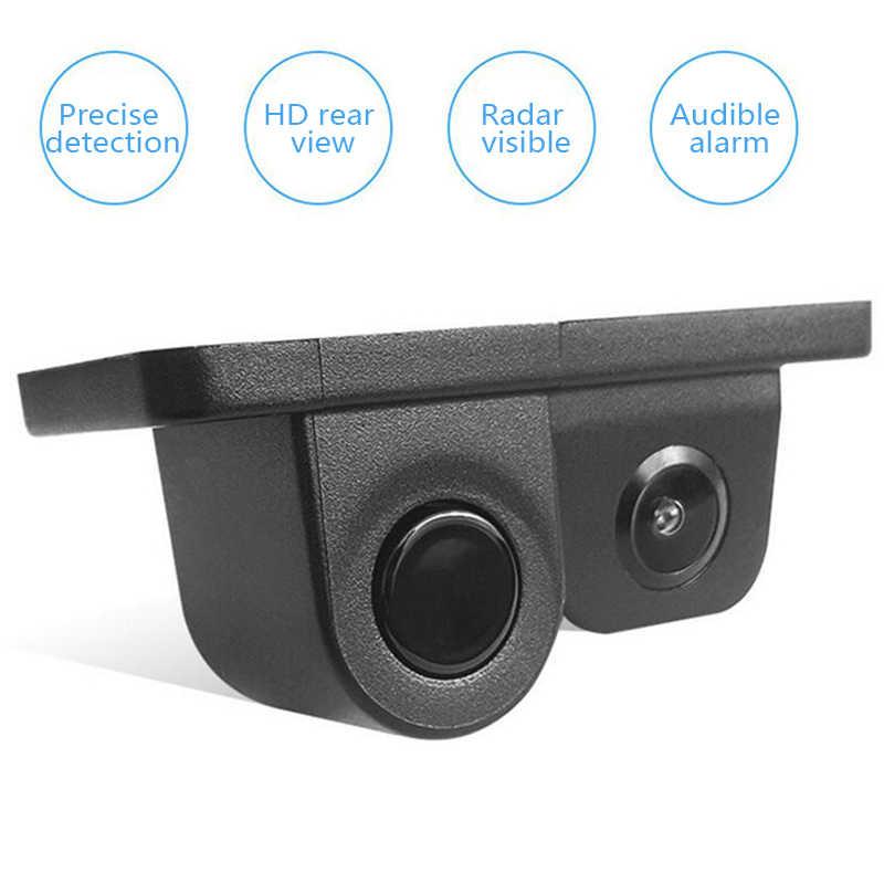 Car Visual Reversing Radar Camera Two-in-one Vehicle Rear View Image HD Auto Radar Sound Alert Indicator Parking Sensor 3089