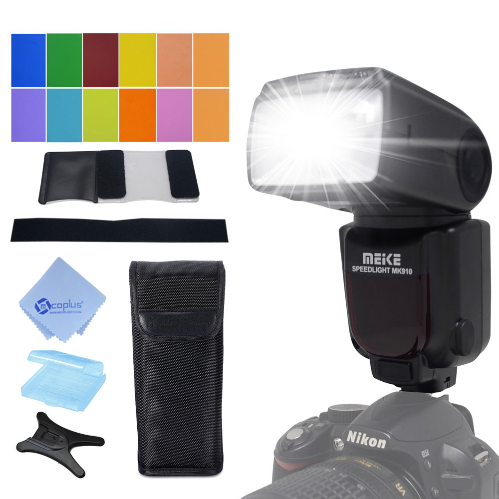 Meike MK-910 MK910 i-TTL 1/8000s HSS Sync Master & Slave flash speedlite for Nikon SB-910 SB-900 D7100 D800 D5500 D750 DSLR came meike mk 950 mark ii ttl slave wireless flashgun speedlite flashlight for nikon