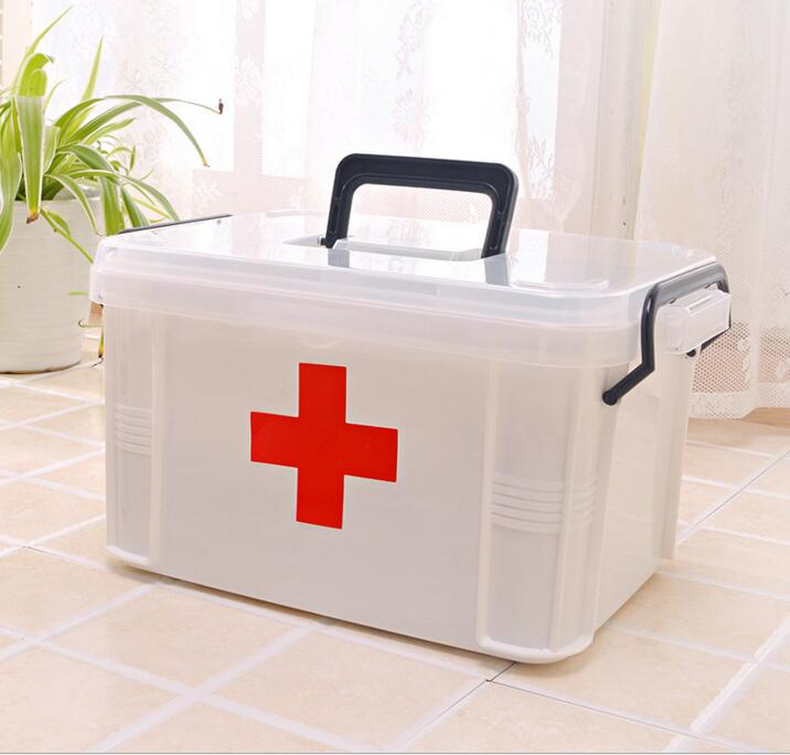 SCA38-Free Shipping Large portable multi-layer medical first aid kit home medicine kit box kit medicine box new gbj free shipping home aluminum medical cabinet multi layer medical treatment first aid kit medicine storage portable