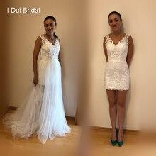 Detachable Tulle Skirt Short Inside Wedding Dress 2