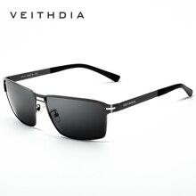 Бренд VEITHDIA, дизайнерские Винтажные Солнцезащитные очки, мужские, поляризационные линзы, Классические солнцезащитные очки, мужские, gafas oculos de sol 2711