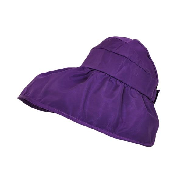 Estilo Hot Mulheres Verão Proteção UV Cap Lona Chapéu de Sol Aba Larga  Floppy Dobre Praia 9fb26ed00e0