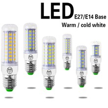 Hoomall LED Lamp AC 220V E27 E14 LED Bulb SMD5730 Corn Bulb 24 36 48 56 69 72LEDs Chandelier Candle LED Light For Home Decor(China)