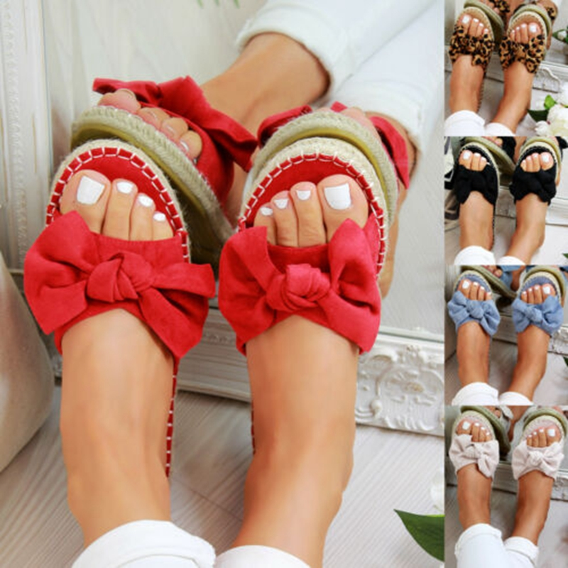 Bow Slippers Shoes Sandals Beach-Flops Open-Toe Torridity Female Casual Women Cute Ladies