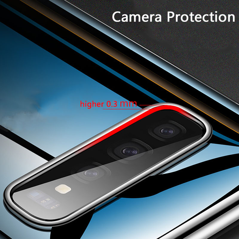 OUSU Original High Quality Transparent Plated TPU Case For samsung S10 Cute Clear Soft Cover Full Coverage 360 Degree Protection in Fitted Cases from Cellphones Telecommunications