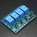 Hot Sale 5V 4 Channel Relay Module For Arduino PIC ARM DSP AVR MSP430 Blue For RC Parts