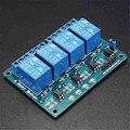 Venda quente 5 V 4 Módulo de Relé Canal Para Arduino PIC ARM DSP MSP430 AVR Azul Para RC Peças