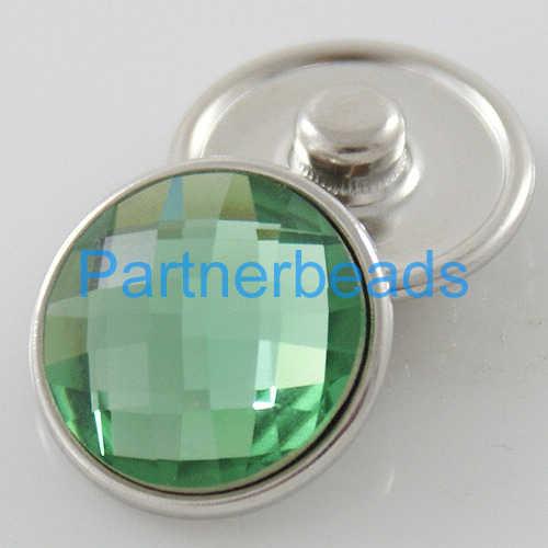 18mm facetté cristal s'enclenche facette verre boucle d'oreille fit boucle d'oreille anneau KB2701-AJ