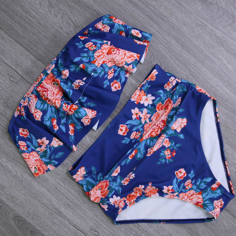 2019 New Bikinis Women Swimsuit High Waist Bathing Suit Plus Size Swimwear Push Up Bikini Set Vintage Beach Wear Biquini 21