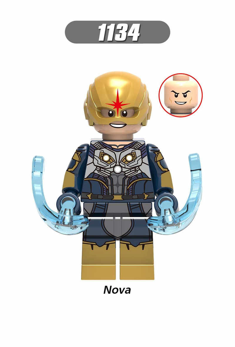 Legoings Super Heroes Captain America Spiderman Model Building Kits Toy For Children