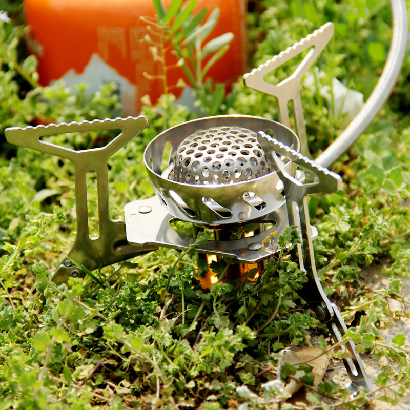 ФОТО Fire Maple Windproof Stove Outdoor Cooking Stove Stainless Steel Gas Stove Split FMS-121 305g 2900W
