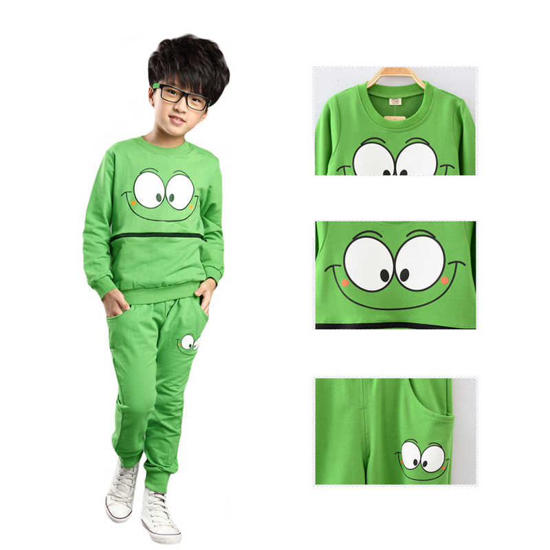 2PCS-Baby-Kids-Smiling-Face-Hooded-Hoodie-Suit-Cotton-Fleeces-Tracksuit-for-BoysGirls-Top-Pants-FJ88-3