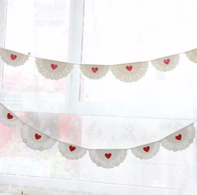 3 Mt Weiss Spitze Liebe Banner Hochzeit Ammern Valentinstag Partei