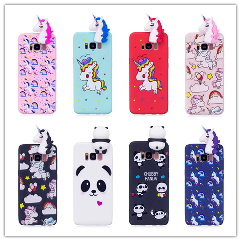 3d Cartoon Diy Dolls Toys Unicorn Horse Soft Tpu Phone Cover Case For Samsung Galaxy S6 S7 Edge S8 S9 Plus Note 8 Phone Case Carefully Selected Materials