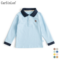 High Quality Kids Boys Polo Shirt Long Sleeve Cotton Thin Comfortable Fabric Handsome T Shirts For