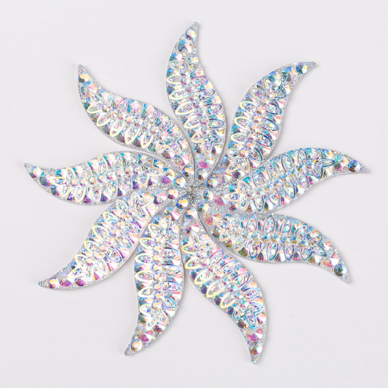 Taidian Crystal AB Flatback Resin Cabs Sew on rhinestone Cabochons For Jewelry making 14x47MM 100pieces