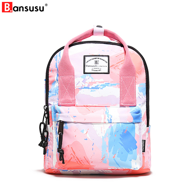 Bansusu Backpack Student College Water Repellen Nylon Backpack Women Men Material Quality Brand Laptop Bag School Backpack