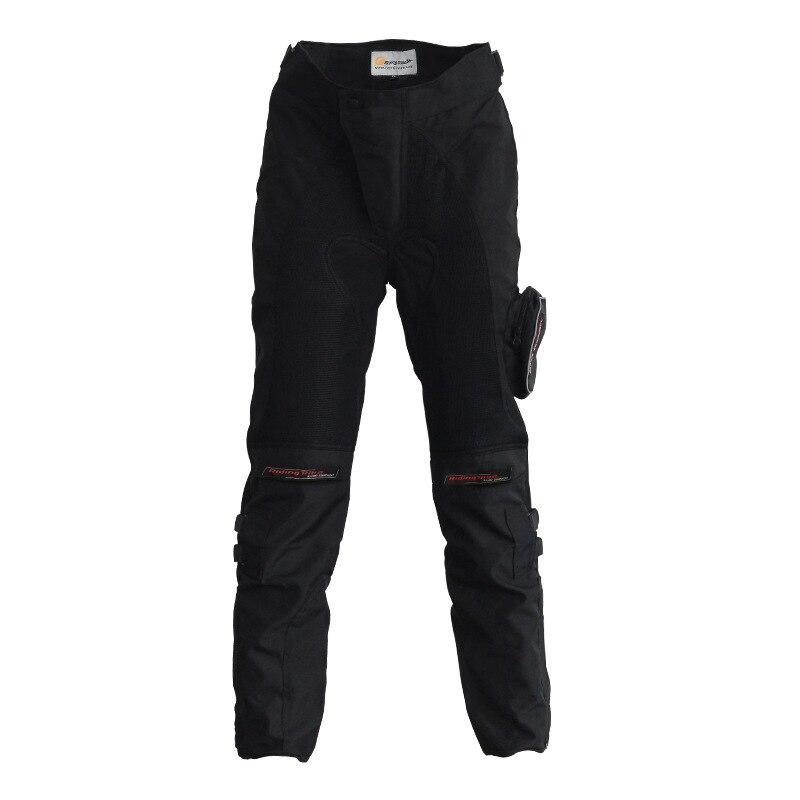 Été moto équitation pantalon mesh respirant en cuir motocross pantalon tout-terrain vélo vélo moteur pantalon
