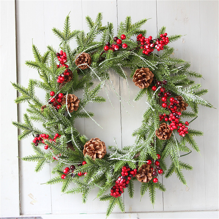 New Hanging Christmas Wreath 60CM 1PC Christmas Wreath ...