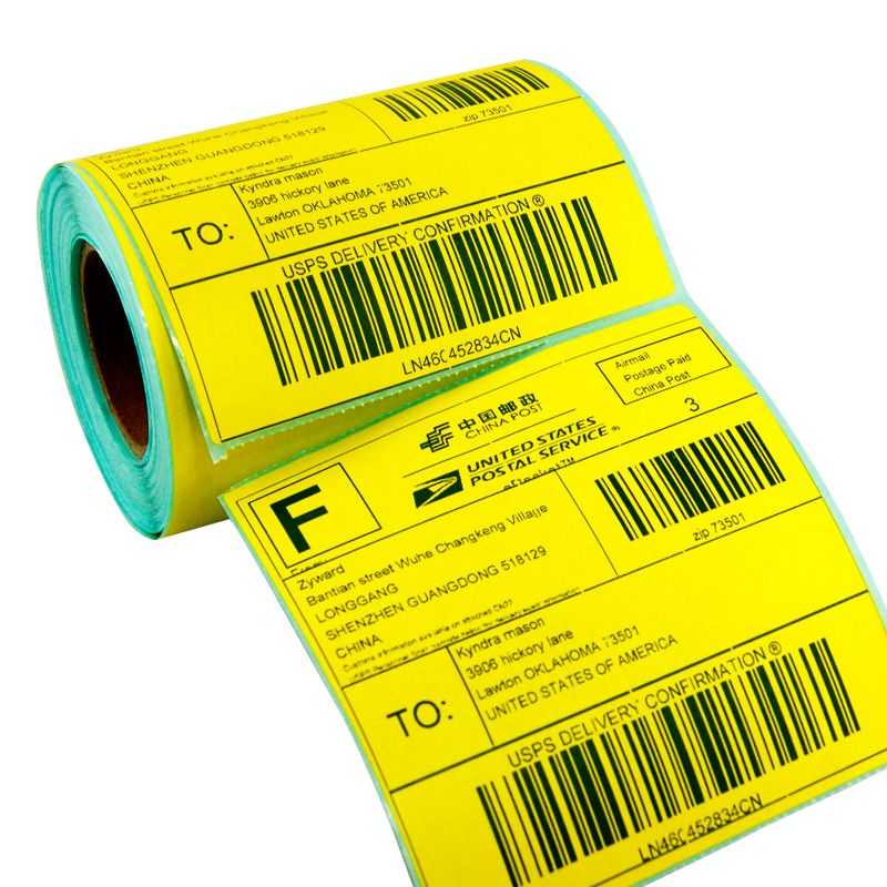Color Shipping Label 100 Mm X 7 Available For Zebra GK420D Direct Print Size 4 In Stationery Sticker From Office School Supplies On