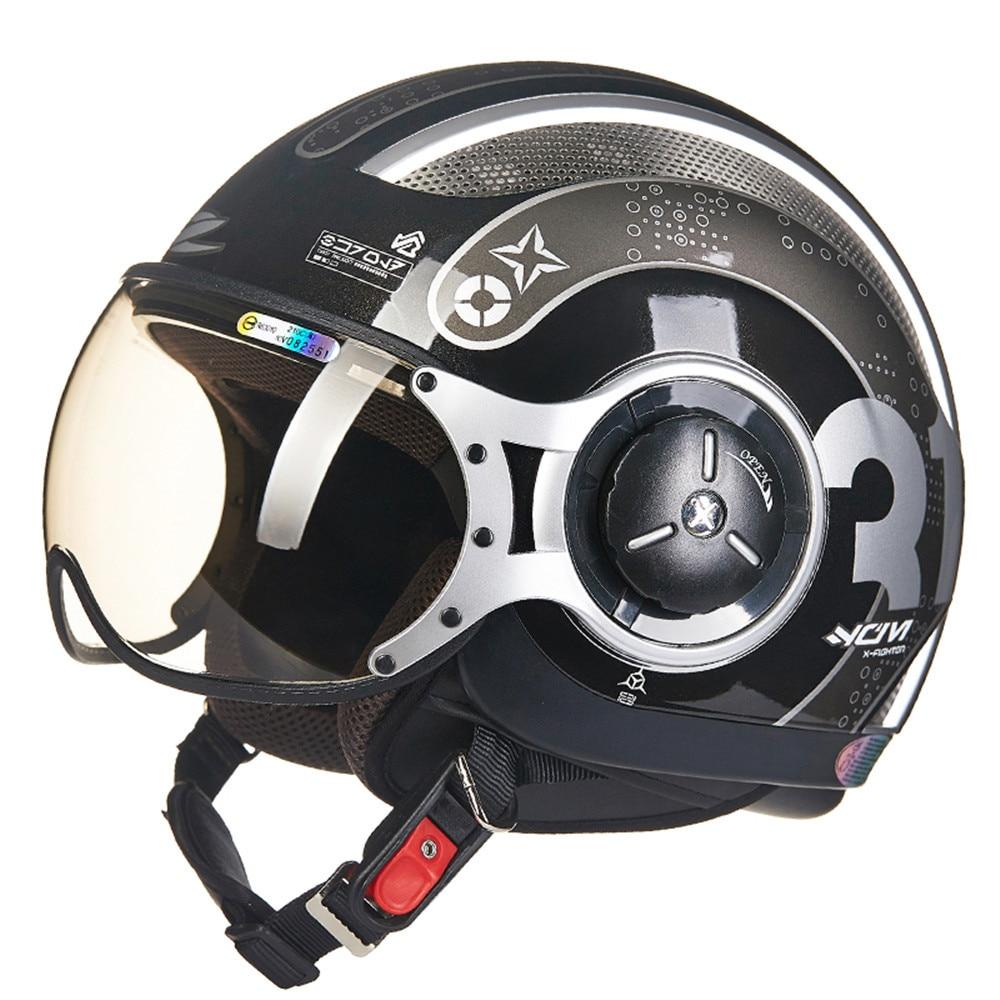 MOMO Style Chopper Pilot Motorcycle helmet Capacetes Motociclismo 218Z Cascos Para Moto Casque Motorhelm Open Face Helmets nenki fiberglass motorcycle helmet full face moto 856z capacetes motociclismo cascos para moto casque motosiklet kask helmets