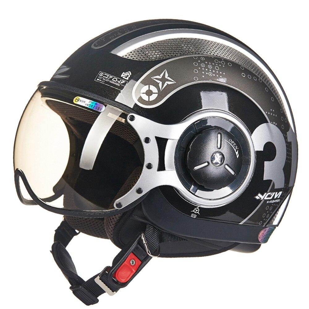 MOMO Style Chopper Pilote Moto casque Capacetes Motocyclisme 218Z Cascos Para Moto Casque Motorhelm Open Face Casques