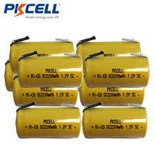10 шт/лот pkcell sub c nicd sc аккумуляторные батареи 12 v подлинный