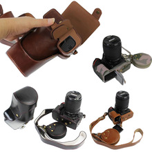 New Luxury PU Leather Camera Case for Nikon D810 Digital camera Bag Cover with Strap +Mini Battery case