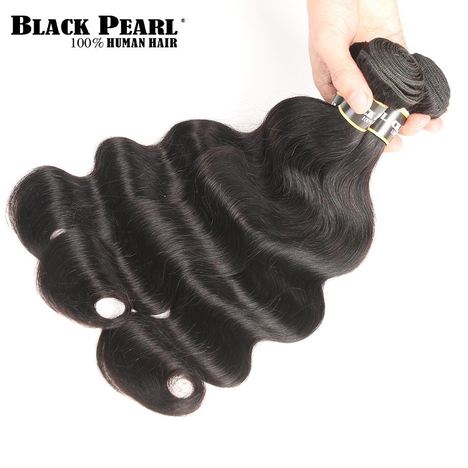 Pérola negra Pré Colored Feixes de Cabelo