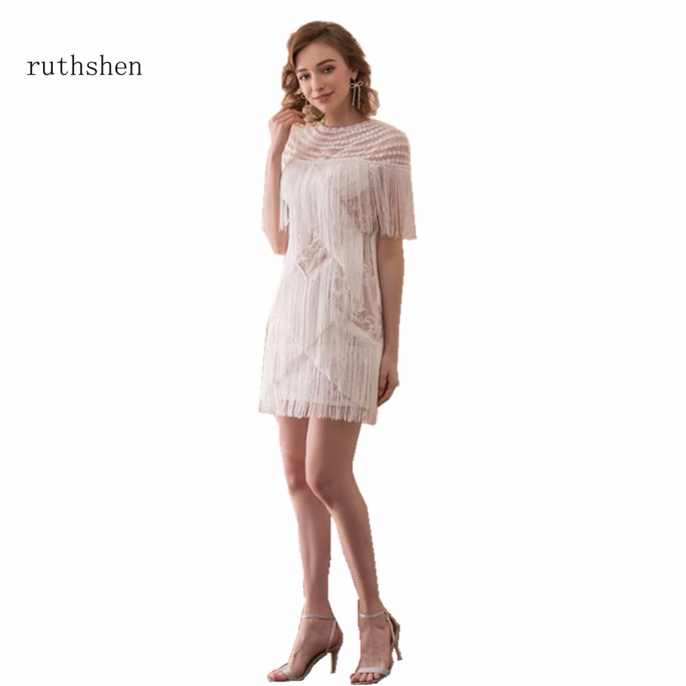 ruthshen Short Prom Dresses Cheap 2018 Latest Tassel Design Mini ...