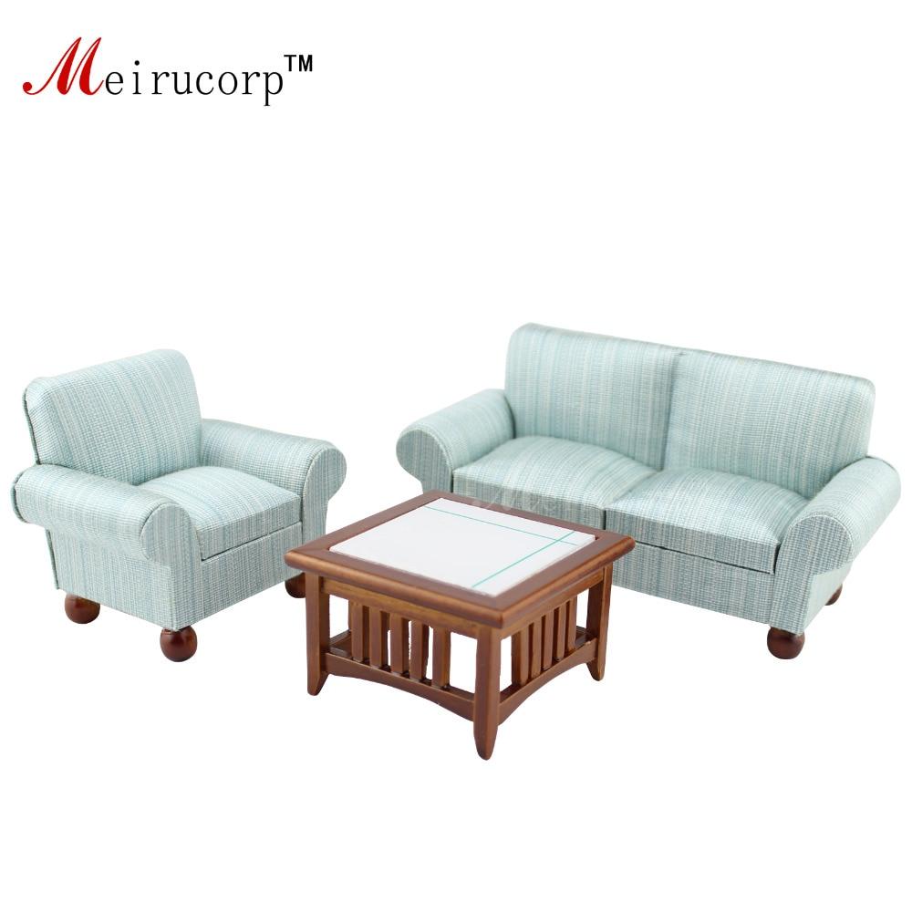 1/12 scale dollhouse miniature Tasteful Living room furniture set ...