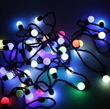 5M 50-Leds Cotton Ball LED String Light Fairy Christmas Lights Decoration Wedding Holiday Party Outdoor,AC110V~220V