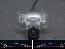 цена на HD 1080P Fisheye Lens Trajectory Tracks Car Parking Rear view Camera for Honda CIVIC CIIMO 2012 2013 Accord CITY 2008 2009 2010