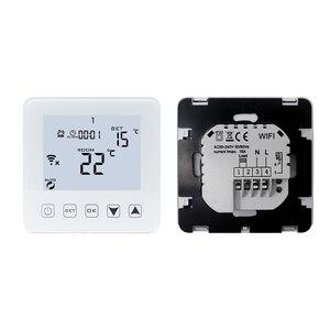 Image 3 - منظم حراري ذكي واي فاي لاسلكي متحكم في درجة الحرارة APP الضوابط 16A التدفئة الكهربائية الكلمة لغرفة دافئة منظم الحرارة