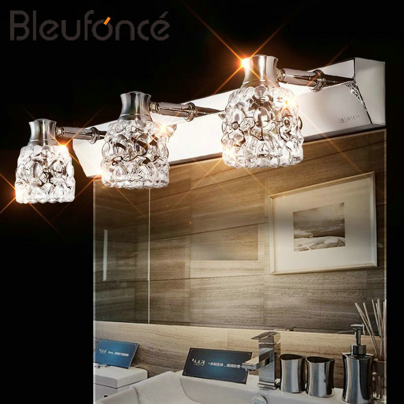 Bathroom Mirror Front Light Modern Stainless Steel LED Wall Lamp Makeup Wall Light Mirror Cabinet Changing Light Wall lamp BL260