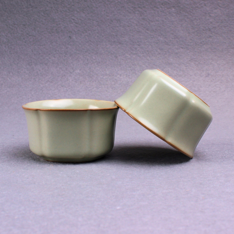 1pcs 45ml Ru kiln kiln ice crack master tea cups small tea cups single cup ceramic kung  ...