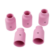 DRELD 5PCS TIG Welding Alumina Nozzle Cup Gas Lens 53N88 10# Fit for Torch PTA DB SR WP 9/17/18/20/26 Series 5-pk