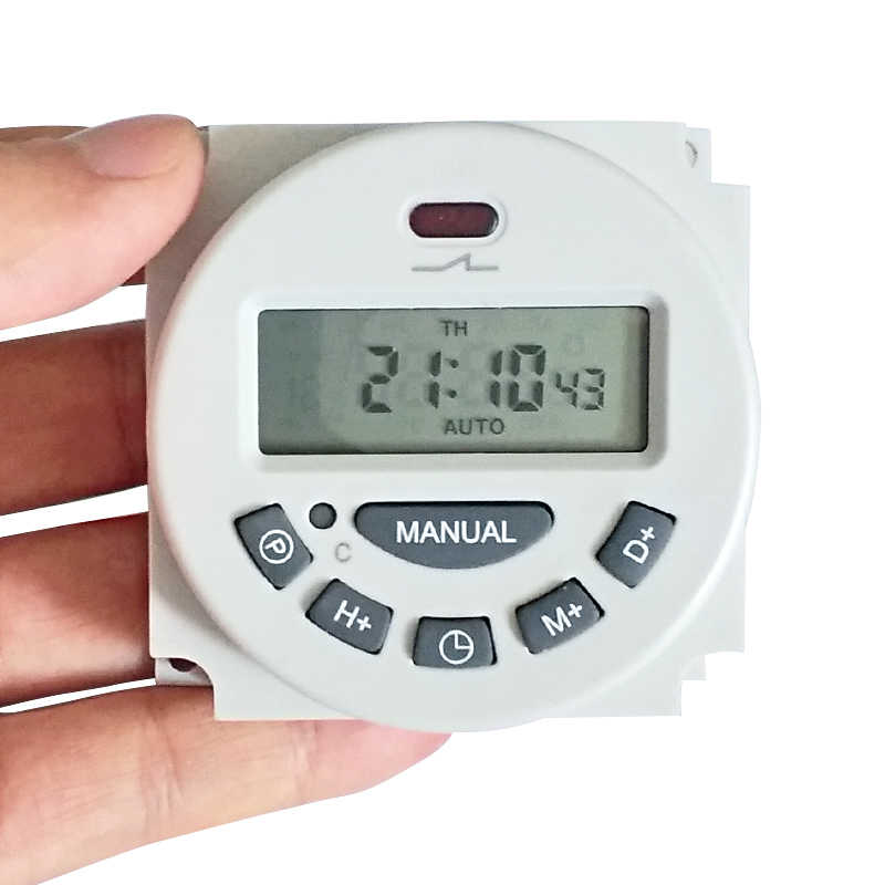 L70 wyłącznik czasowy DC AC cyfrowy wyświetlacz LCD zasilanie programowalny timer wyłącznik czasowy z przekaźnikiem 16A timery 16 grup programów 12 V 24 V 110 V 220 V