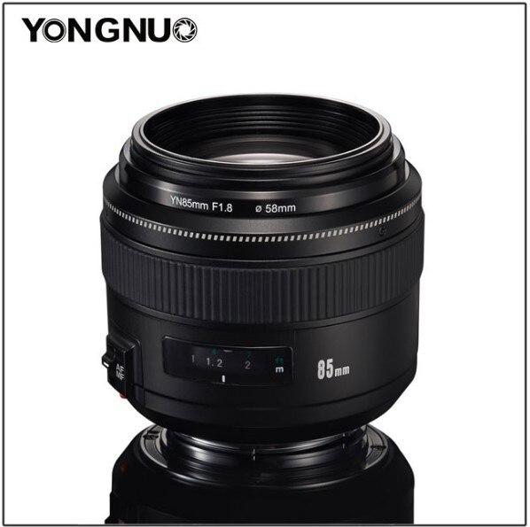 YONGNUO EF 85mm f/1.8 USM moyen téléobjectif pour appareils photo reflex Canon avec pare-soleil, YN85mm f1.8 objectif fixe Standard
