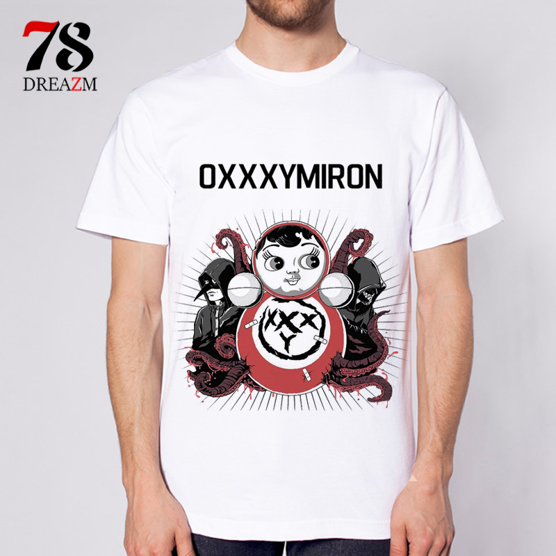 oxxxymiron t shirt male Anime 2017 Newest Fashion Cool Printed T Shirt Summer font b Mens