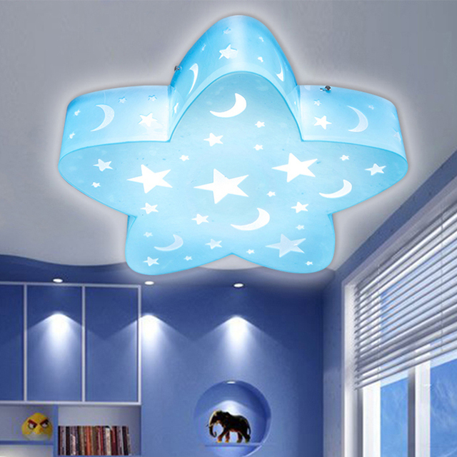 Childrenu0027s Lamps Creative LED Ceiling Lamp Cartoon Lamp Bedroom Lighting  Girl Stars Eye Care Room Ceiling