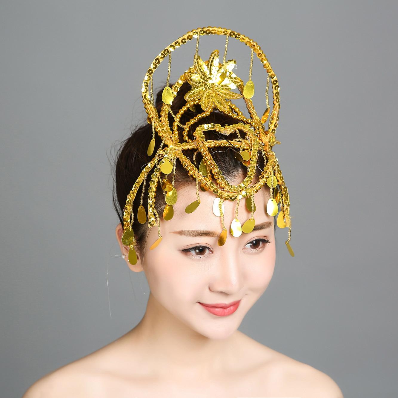 New Dance Performance Headdress Yangkotou Plum Blossom Square Dance Children's Adult Hair Ornaments  National Stage