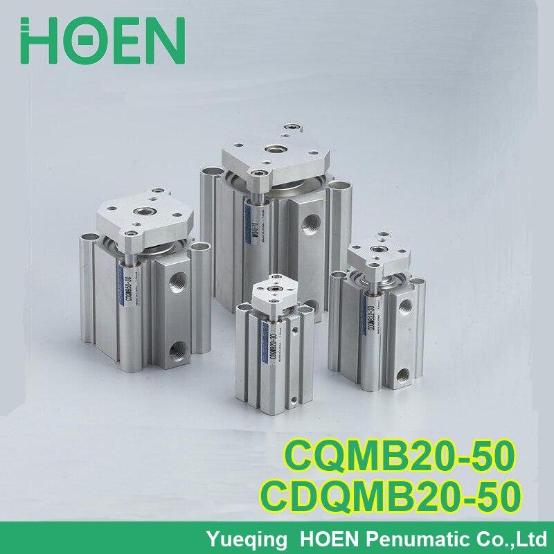 CQMB20-50 CDQMB20-50 CQM series 20mm furo 50mm curso guia de haste do cilindro compacto duplo-efeito haste simples pneumático cilindros