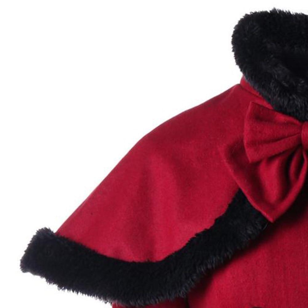 Chaude Vintage Femmes Goth Bourgogne Dentelle Swing Mode Élégant Plissée Douce Pardessus Laine Up Manteau 2018 Bureau De Dames Et D'hiver 17q1T