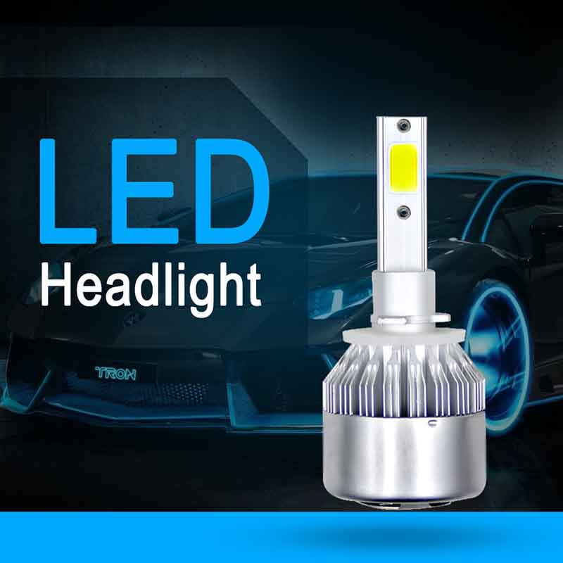 Shandun 36W CSP 880/881/H27 9005/H10/HB3 9006 H1 H3 H7 H8/H9/H11 C6 LED Headlamp Light Golden Car HeadLight Bulbs 6000K Led lamp auto headlight h1 led lamp with csp 6000k 35w 12 volt 880 881 h27 bulb led lampada car accessory kit led h1 360 diode head light