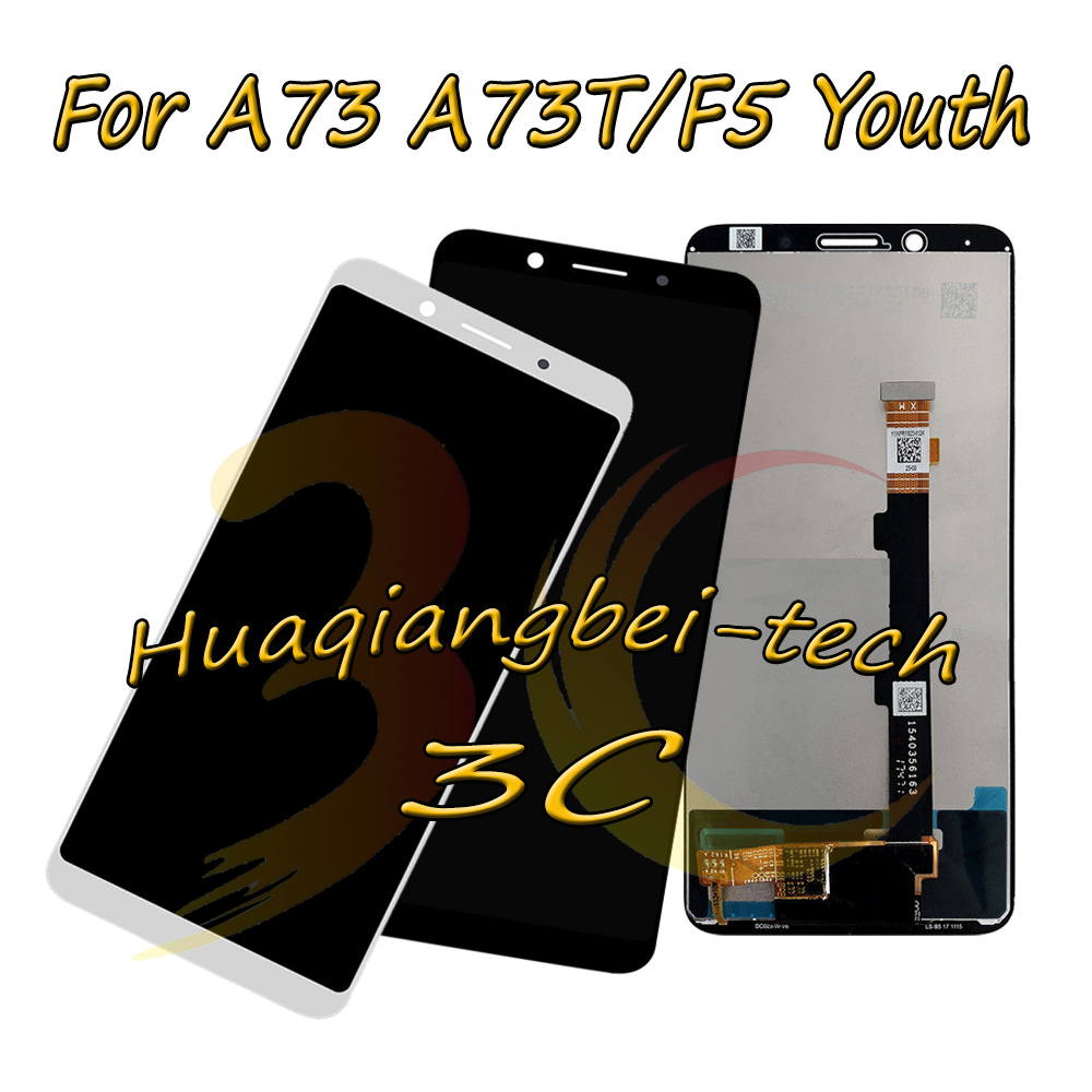 New 6.0'' For <font><b>OPPO</b></font> A73 A73T / <font><b>F5</b></font> Youth CPH1727 Full LCD <font><b>DIsplay</b></font> + Touch Screen Digitizer Assembly Black / White 100% Tested image