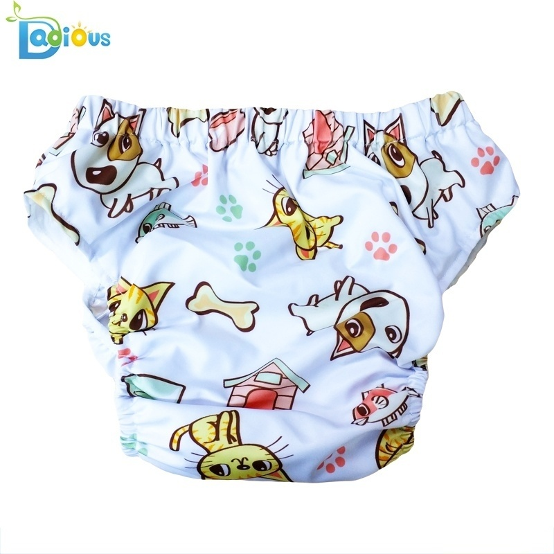 Printed Learning Cloth Cute Accessories Cartoon Pants Wash Baby Diaper